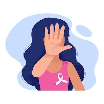 Vrouw bedekt haar gezicht met haar hand tegen geweld