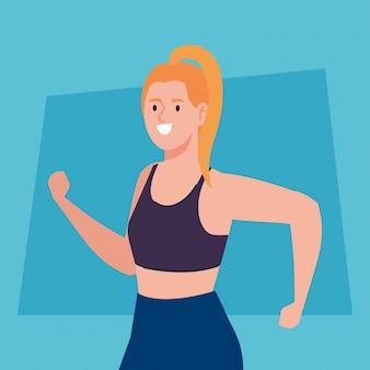 Vrouw beoefenen van oefening, sport recreatie oefening