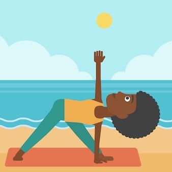 Vrouw beoefenen van yoga.