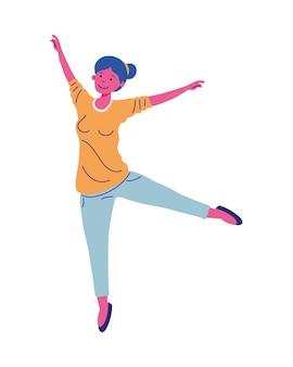 Vrouw cartoon dansend meisje vrouwelijke persoon