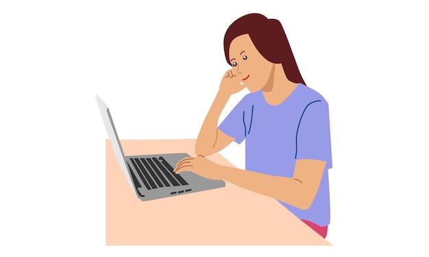 Vrouw chatten op netwerk