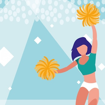 Vrouw cheerleader geïsoleerde pictogram