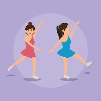 Vrouw dansen klassiek