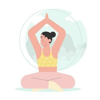 Vrouw doet yoga meditatie