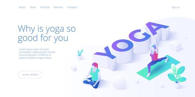 Vrouw doet yoga of pilates poseren in studio. levensstijl met vrouw die in lotushouding uitoefent.
