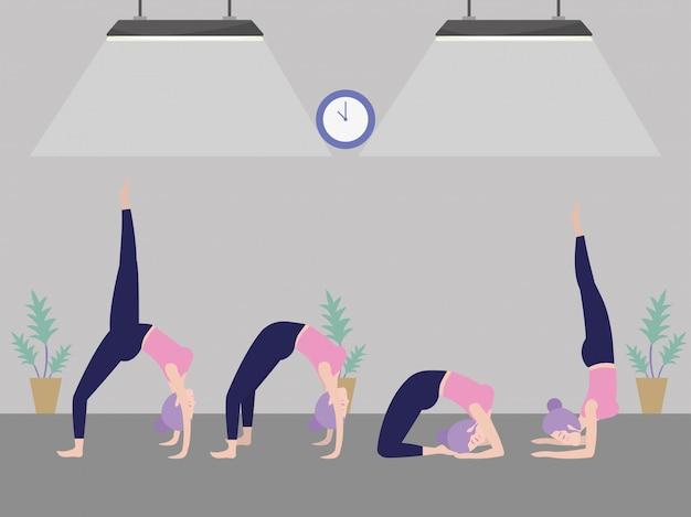 Vrouw en yoga