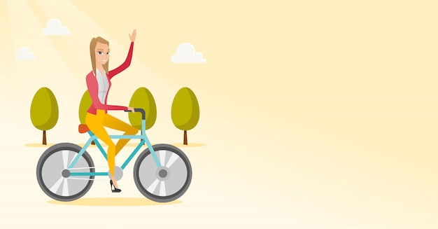 Vrouw fietsten