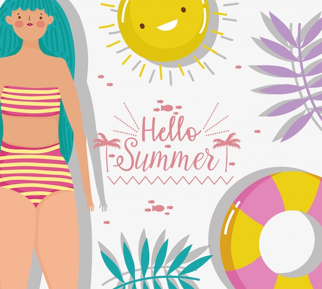 Vrouw hallo zomervakantie