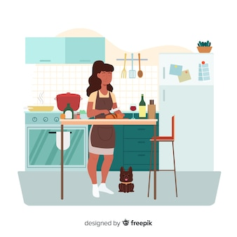 Vrouw koken