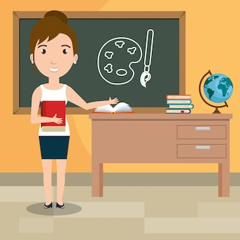 Vrouw leraar in de klas