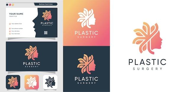 Vrouw logo-ontwerp met moderne abstracte stijl premium design