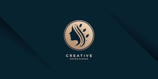 Vrouw logo sjabloon premium vector