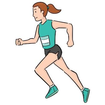 Vrouw loopt