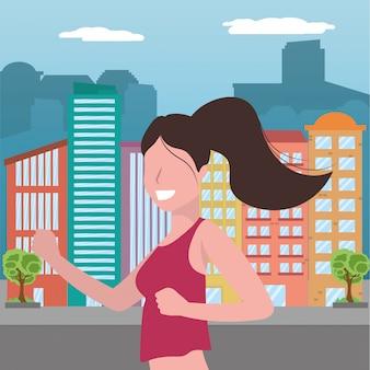 Vrouw lopend portret