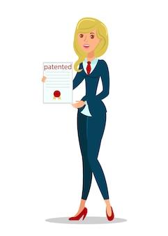 Vrouw met copyright act flat