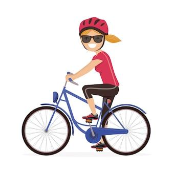 Vrouw met een fiets