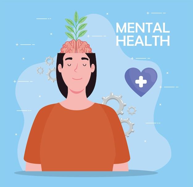 Vrouw met geestelijke gezondheid