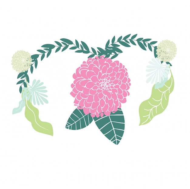 Vrouw met het concept van de baarmoedergezondheid op roze achtergrond