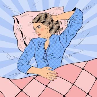 Vrouw met slapeloze nacht