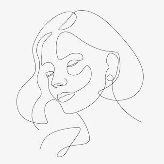 Vrouw minimale handgetekende illustratie. tekening in één lijnstijl.