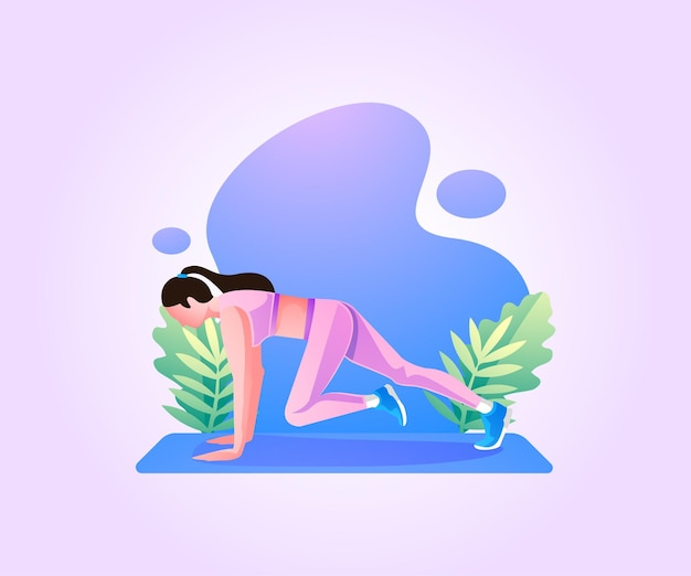 Vrouw oefening lichaamstraining