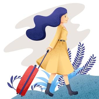 Vrouw reizen