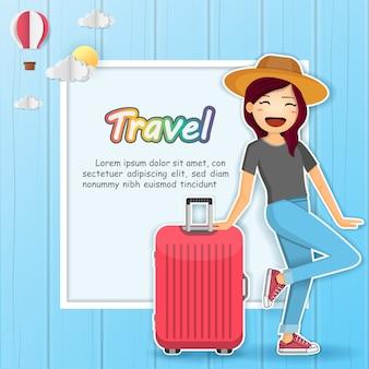 Vrouw reiziger