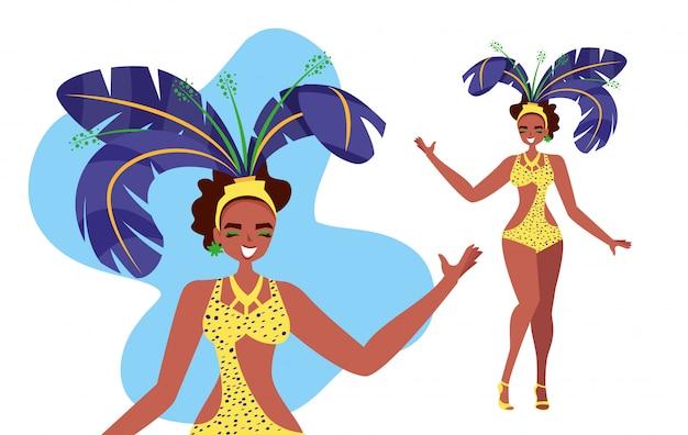 Vrouw samba danser