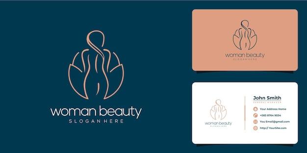 Vrouw schoonheid en spa logo ontwerp