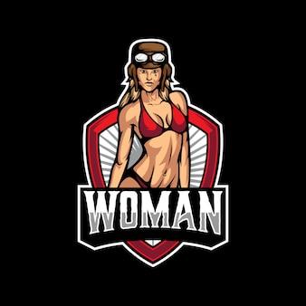 Vrouw sexy logo sjabloon
