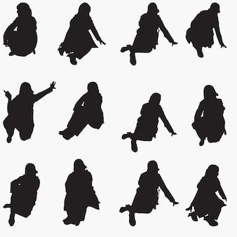 Vrouw silhouetten