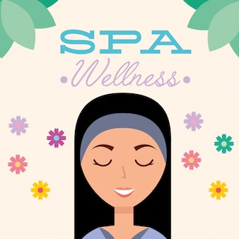 Vrouw spa wellness