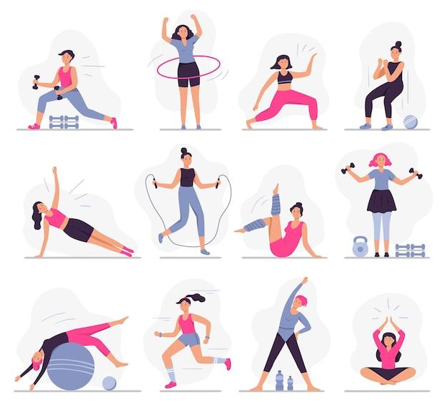 Vrouw sportactiviteiten