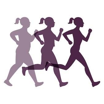 Vrouw van het gewichtsverlies joggen