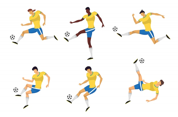 Vrouw voetbalspelers in actie.