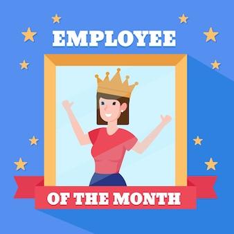 Vrouw voor werknemer van de maand