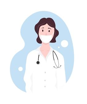 Vrouw vrouwelijke arts landingspagina held.