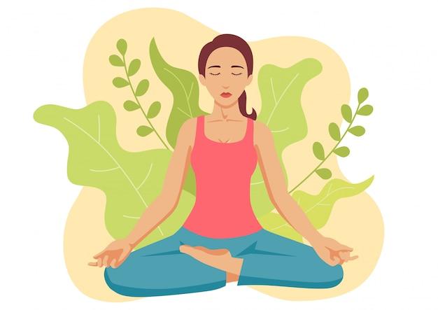 Vrouw yoga