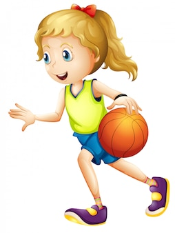 Vrouwelijk basketbal speler karakter