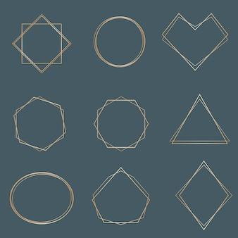 Vrouwelijk elegant kader voor logo bewerkbare sjabloon