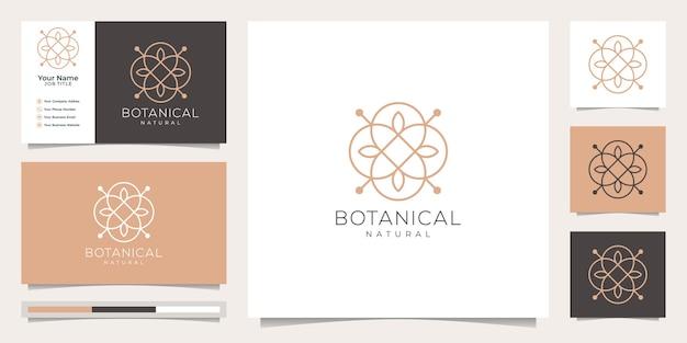 Vrouwelijk en bloemen botanisch, logo geschikt voor kuuroordsalon, schoonheidssalon voor huidhaar en cosmetica, bedrijf.