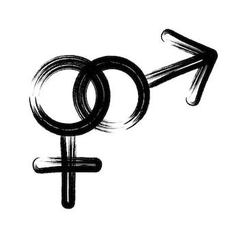 Vrouwelijk en mannelijk geslachtspictogramsymbool van mannen en vrouwen