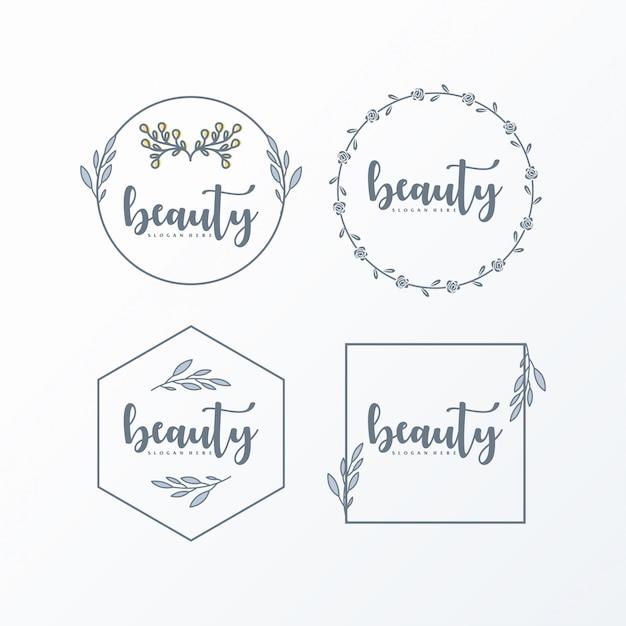 Vrouwelijk logo eenvoudig en elegant