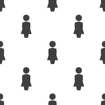 Vrouwelijk profiel, vector naadloos patroon, bewerkbaar kan worden gebruikt voor webpagina-achtergronden, opvulpatronen