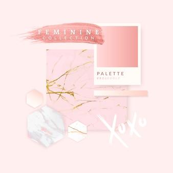 Vrouwelijk roze lay-outontwerp