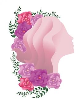 Vrouwelijk silhouet pictogram
