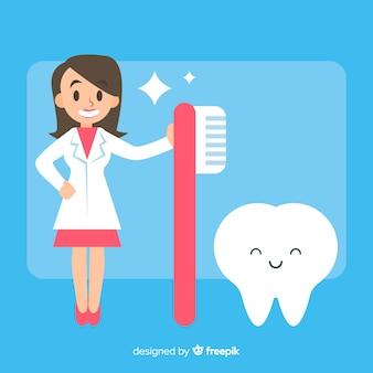 Vrouwelijk tandartskarakter