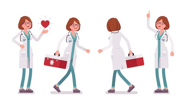 Vrouwelijke arts aan het werk