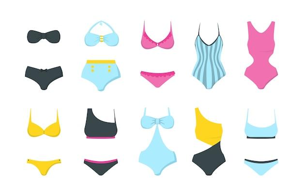 Vrouwelijke badmode collectie