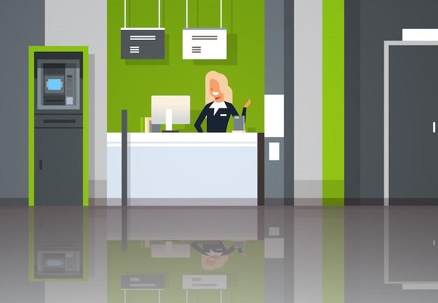 Vrouwelijke bankmedewerker